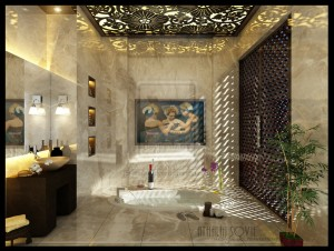 Artistic Bathroom